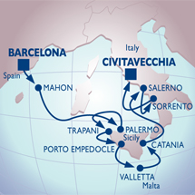 Azamara Cruise Barcelona to Rome Luxury Cruise