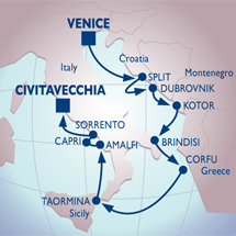 azamara venice rome luxury cruise