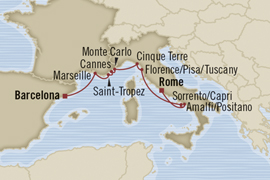 barcelona to rome oct 9 2012 oceania cruise