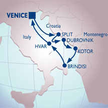 Venice cruise to Dalmatian Coast