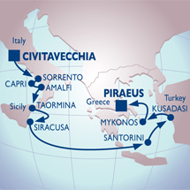 azamara rome athens small ship luxury
