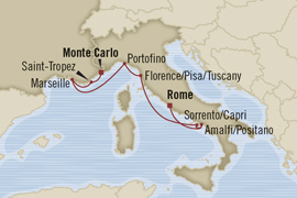 mediterranean rivieras cruise monaco rome