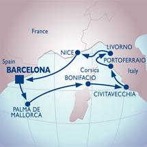 barcelona italian ports cruise