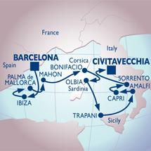 azamara barcelona rome cruise