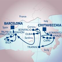 azamara cruise rome barcelona