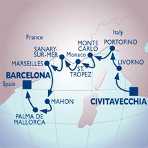 azamara rome barcelona riviera cruise