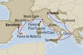 oceania venice to barcelona cruise