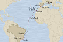 rome to rio oceania cruise