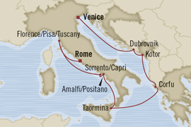 oceania rome venice 10 night cruise around italy